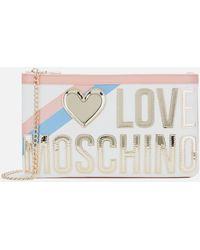 Love Moschino Logo Stripe Shoulder Bag - Multicolor