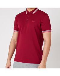 BOSS by Hugo Boss Boss Athleisure Paddy Pique Polo Shirt - Red