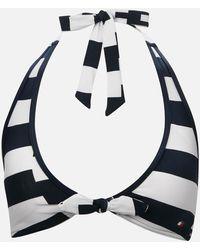Tommy Hilfiger Halter Bikini Top - Blue