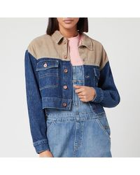 Tommy Hilfiger Cropped Trucker Jacket - Blue