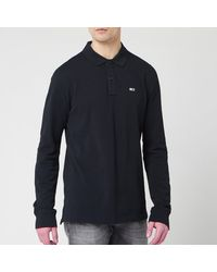 Tommy Hilfiger Long Sleeved Polo Shirt - Black