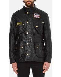 Barbour | Men's Union Jack International Coat | Lyst