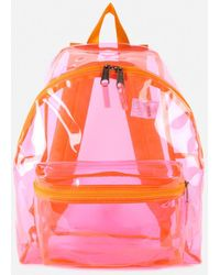 Eastpak Authentic Transparent Padded Pak'r Backpack - Pink