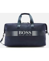 BOSS Green | Nylon Holdall With Contrast Logo | Lyst