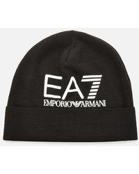 EA7 Logo Beanie - Black