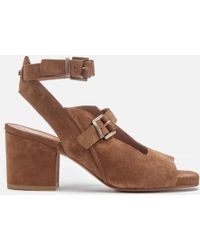 H by Hudson | Rona Suede Heeled Sandals | Lyst