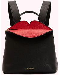 Lulu Guinness Peekaboo Lip Valentina Backpack - Multicolor