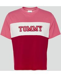 Tommy Hilfiger Tjw Colorblock Stripe T-shirt - Pink