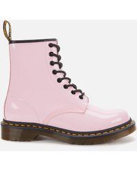 Dr. Martens 1460 Patent Lamper 8-eye Boots - Pink