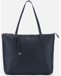 Radley Wood Street Large Zip Top Tote Bag - Blue