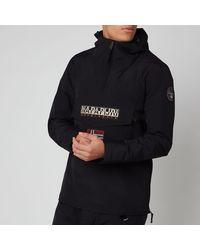 Napapijri Rainforest M Sum 1 Hooded Popover Jacket - Black