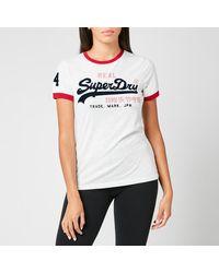 Superdry Vl Varsity Ringer T-shirt - White