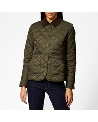 Barbour Deveron Quilted Coat - Green