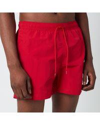 Tommy Hilfiger Medium Length Drawstring Swimshorts - Red