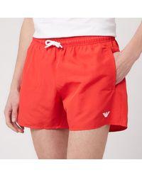 Emporio Armani Classic Swim Shorts - Red
