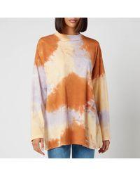 Free People Be Free Tie Dye Oversize Long Sleeve T-shirt - Orange