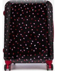 Lulu Guinness Medium Confetti Lip Print Hardside Suitcase