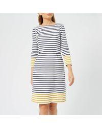 Joules - Yvonne Square Neck Interlock Jersey Dress - Lyst