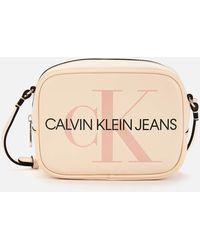 Calvin Klein Sculpted Camera Bag Mono - Natural
