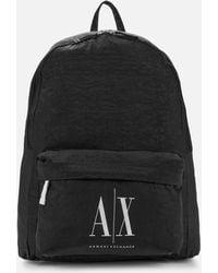 Armani Exchange Ax Logo Backpack - Black
