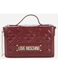 Love Moschino Quilted Top Handle Bag - Red
