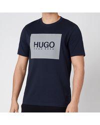 HUGO Dolive211 Reflective Logo T-shirt - Blue