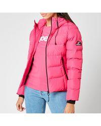 Superdry Spirit Sports Puffer Jacket - Pink