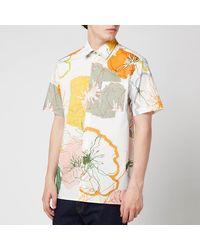 Ted Baker Knittin Short Sleeve Shirt - White