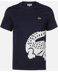 Lacoste Large Croc T-shirt - Blue