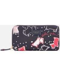 Radley - Speckle Dog Large Zip Around Matinee Purse - Lyst