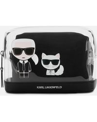 Karl Lagerfeld K/ikonik Transparent Pouch - Black
