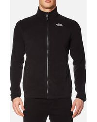 The North Face 100 Glacier Full Zip Fleece - Black