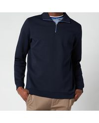 Ted Baker Ayfive Half Zip Funnel Neck Polo Shirt - Blue