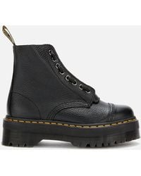 Dr. Martens - Sinclair Leather Zip Front Boots - Lyst