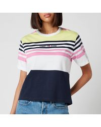 Tommy Hilfiger Tjw Boxy Crop Linear T-shirt - Pink