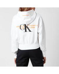 Calvin Klein Urban Logo Hoodie - White
