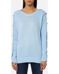 Michael Kors | Gem Button Sweatshirt | Lyst