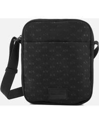 Armani Exchange - Ax All Over Logo Cross Body Bag - Lyst