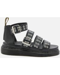 Dr. Martens Clarissa Ii Hardware Leather Sandals - Black