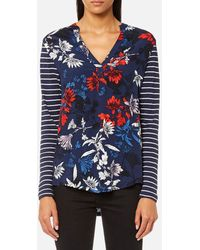 Joules Beatrice Jersey/woven Mix Top