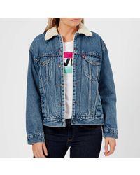 Levi's Ex-boyfriend Sherpa Trucker Jacket - Blue