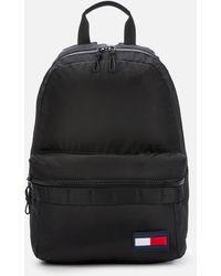 Tommy Hilfiger Colour-blocked Dome Backpack - Black