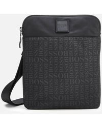 BOSS Lighter Envelope Cross Body Bag - Black