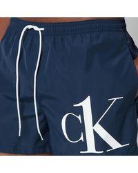 Calvin Klein Ck Logo Drawstring Swim Shorts - Black