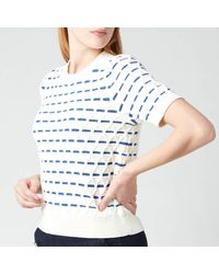 Kate Spade Striped Cable Jumper - Blue