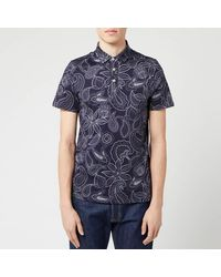 Ted Baker Fright Floral Polo - Blue
