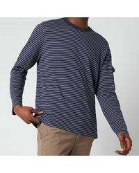 Ted Baker Melted Striped Long Sleeve Top - Blue