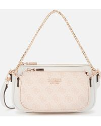 Guess Mika Mini Double Pouch Cross Body Bag - Pink
