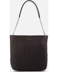 DKNY - Pinstripe Quilted Shopper Bag - Lyst