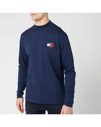 Tommy Hilfiger Mock Neck T-shirt - Blue